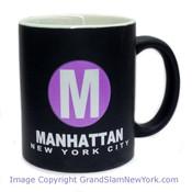 NYC Manhattan Circle Matte 11oz Mug
