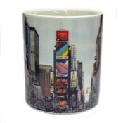Times Square Panoramic Photo 11oz Mug