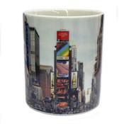 Times Square Panoramic Photo 11oz Mug