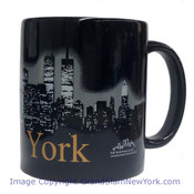 NYC Glowing Night Skyline 11oz Mug - Black