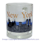 NYC Glowing Night Skyline 11oz Mug - Glass