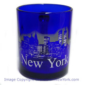 NYC Glowing Night Skyline 11oz Mug - Cobalt