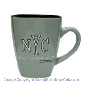 NYC Square Shaped Bistro Mug - Green