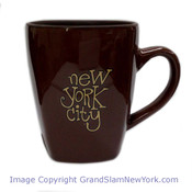 NYC Funky Type Bistro Mug - Brown