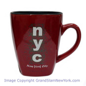 NYC Dots Square Shaped Bistro Mug