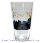 NYC Glowing Night Skyline Glass Tumbler