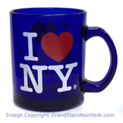 I Love NY Cobalt Glass 11oz Mug