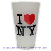 I Love NY Frosted Glass Tumbler