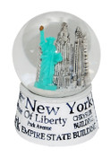 NYC Landmarks White 45mm Snowglobe