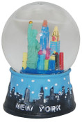 NYC Skyline Design 45mm Snowglobe - Blue