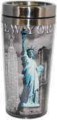 NYC Icons Liberty Contrast Tall Travel Mug
