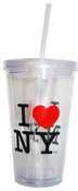 I Love NY Repeat Travel Cup with Straw