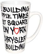 NYC Landmarks Urban Font Java Mug