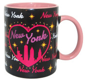 NY Bedazzled Black Skyline 11oz Mug