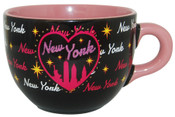 NY Bedazzled Black Skyline Soup Mug
