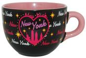 NY Bedazzled Black Skyline Soup Mug