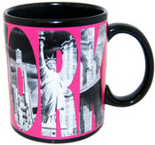 New York Icons in Letters Pink 11oz Mug