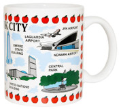 NYC Monuments Animated 11 oz Mug