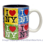 I Love NY Distressed Collage 11oz Mug