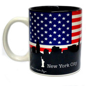 NYC US Flag Skyline 11oz Mug