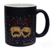NY Broadway Confetti Mug - Black Matte