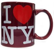 I Love NY Maroon 11oz Mug