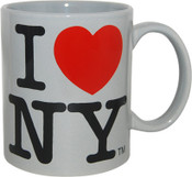 I Love NY Grey 11oz Mug