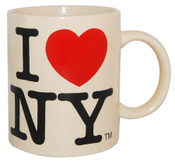 I Love NY Cream 11oz Mug