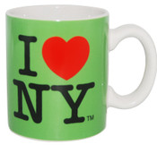 I Love NY Mini Mug - Green