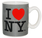 I Love NY Mini Mug - Grey