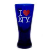 I Love NY Blue Glass Spirit Shot Glass