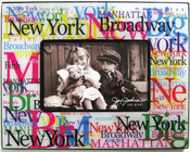 NYC Landmarks Acrylic 4 x 6 Picture Frame - White