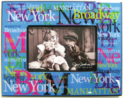 NYC Landmarks Acrylic 4 x 6 Picture Frame - Blue