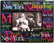NYC Landmarks Acrylic 4 x 6 Picture Frame - Black