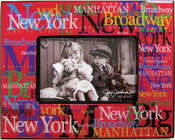 NYC Landmarks Acrylic 4 x 6 Picture Frame - Red