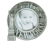 NY Liberty Skyline Pewter 4 x 4 Picture Frame