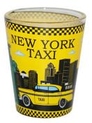 NYC Liberty Skyline Yellow Taxi Shot Glass