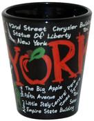 NYC Scribble Black Shot Glass