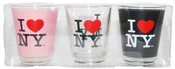 I Love NY Shot Glass 3-Pack