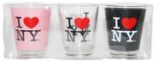 I Love NY Shot Glass 3-Pack