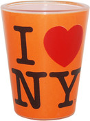 I Love NY Orange Shot Glass