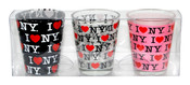 I Love NY Allover Shot Glass 3-Pack