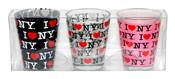 I Love NY Allover Shot Glass 3-Pack