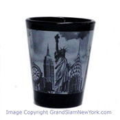 NYC Icons Collage Black and White Photo Shot Glass