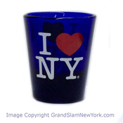 I Love NY Cobalt Blue Shot Glass