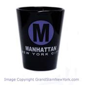 Manhattan M Black Shot Glass
