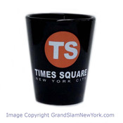 Times Square TS Black Shot Glass
