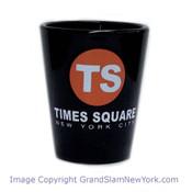 Times Square TS Black Shot Glass