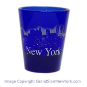NY Glowing Skyline Shot Glass – Cobalt Blue