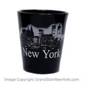 NY Glowing Skyline Shot Glass – Black